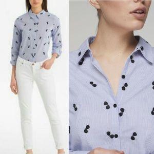 KARL LAGERFELD PARIS Sunglasses Poplin Shirt